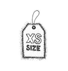dotwork extra small size label vector image vector image
