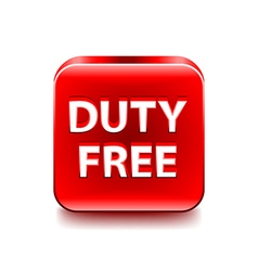 Duty free icon isolated on white vector