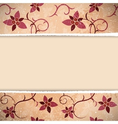 Floral Retro Background vector image vector image