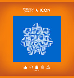 Geometric arabic pattern logo element for your vector