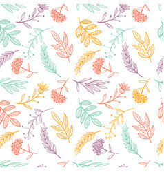 Herbal sketch detox seamless pattern colorful vector