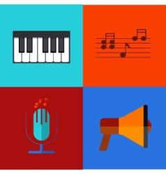 modern flat icons set vector image vector image
