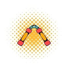 Nunchaku weapon icon comics style vector image