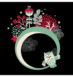 Owls banner for your beautiful card vector image vector image