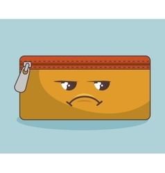 Pencil case funny character isolated icon design vector