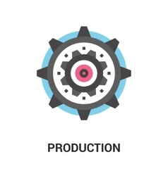 production icon concept vector image vector image