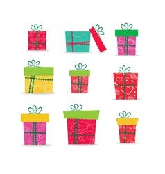 set of christmas gifts for design vector image vector image