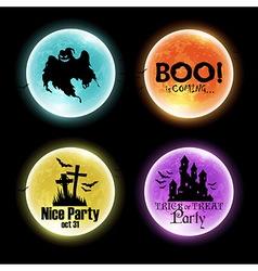 Set of halloween banners vector
