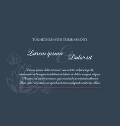 Simple background style for wedding invitation vector