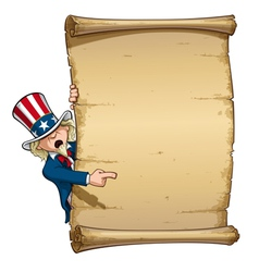 Uncle sam pointing at declaration vector