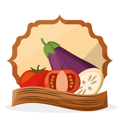 Vegetables fresh food healthy poster vector