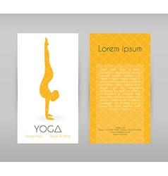 Woman doing yoga asanas flyers vector