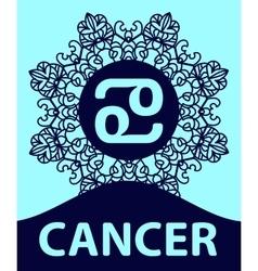 Zodiac sign Cancer Abstract zodiac sign for vector image