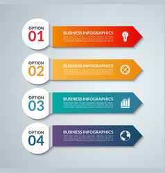 Infographic options banner with 4 arrows vector