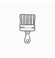 Paintbrush sketch icon vector
