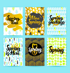 Spring trendy hipster posters vector