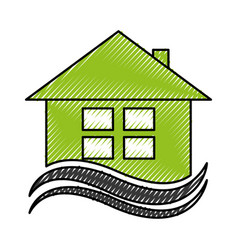 house exterior emblem isolated icon vector image