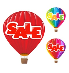 Sale air balloon vector