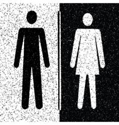 Man and woman restroom signs vector