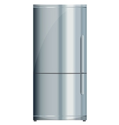 Fridge on white vector