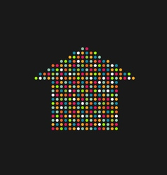House in color dots vector
