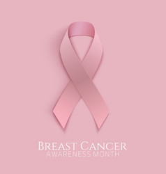 Breast cancer pink ribbon vector image
