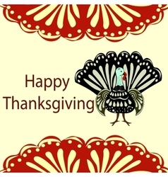 Turkey happy thanksgiving holiday background vector