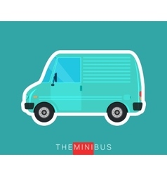 Mini van isolated vector