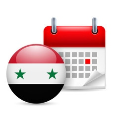 Icon of national day in syria vector