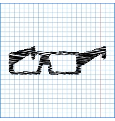 Glasses icon with pen effect on paper vector