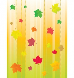 abstract background with autumn leaves vector image