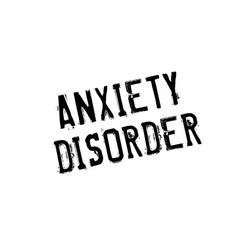 Anxiety disorder rubber stamp vector
