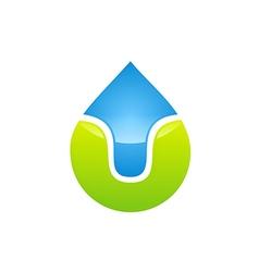 Bio ecology water drop logo vector