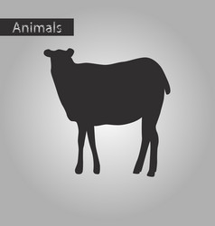 black and white style icon of sheep vector image