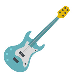 Blue electric guitar icon isolated vector