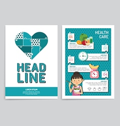 brochure flyer magazine cover booklet poster desig vector image
