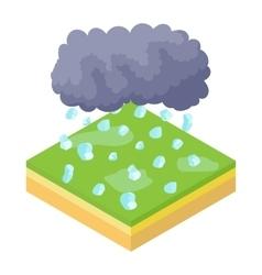 Cloud and hail icon cartoon style vector