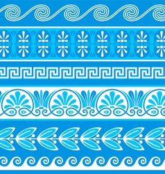 Decorative greek borders vector