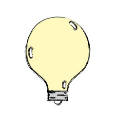 Energy bulb to illuminate places vector