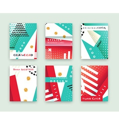 Fashionable original cover Stylish business card vector image