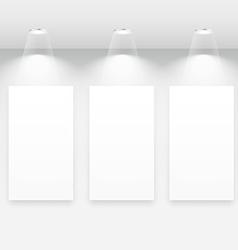 gallery interior with empty frames vector image vector image