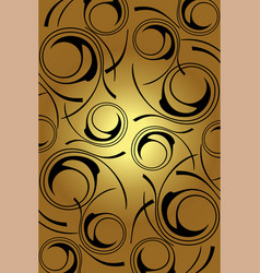 golden background black circles on a gold vector image