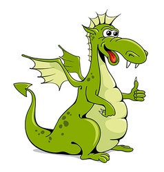 Green dragon vector image vector image