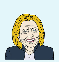 hillary clinton pop art flat design vector image vector image
