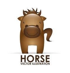 Horse cute vector
