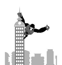 King Kong on building Strong big gorilla keeps vector image