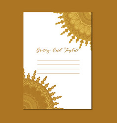 Mandala vintage template card vector