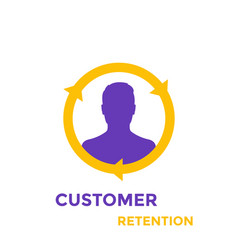 Returning customer and client retention icon vector