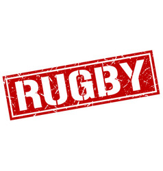 Rugby square grunge stamp vector