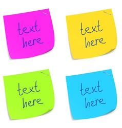 set of sticky memo notes vector image vector image